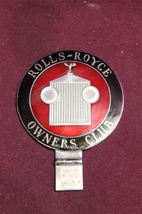 rolls royce owners club badge xxxx antique complex