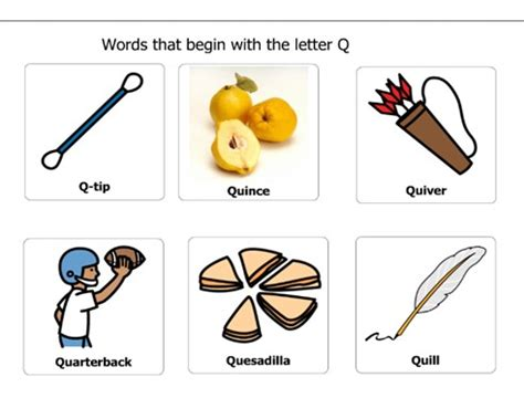 four letter word starting with q clipart thing that start with the letter q collection