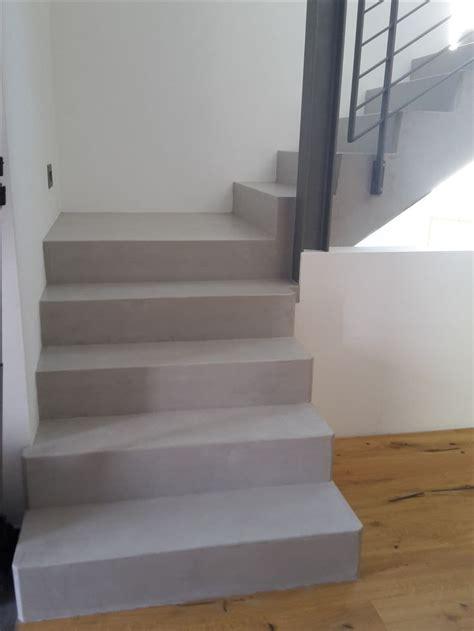 beton cire beschichtung auf treppenstufen betontreppe