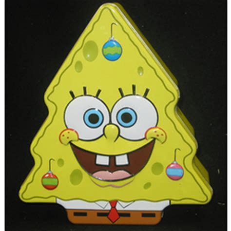 christmas spongebob large christmas tree tin findgift com