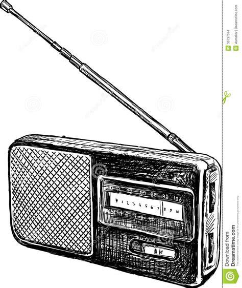 sketchbook radio radio stock photo image of push equipment
