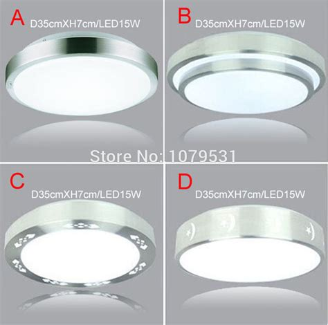 Types Of Ceiling Lighting 4 Types Aluminum Acryl 15w Led Ceiling Lights Dia 350mm