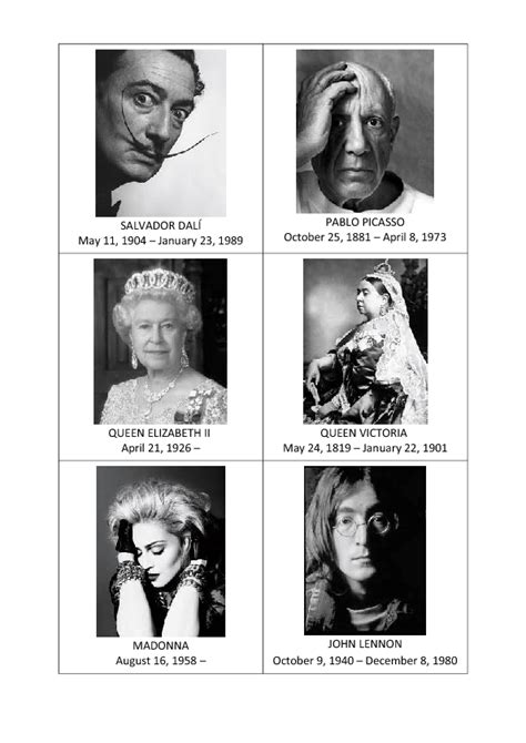 Famous People Speaking Cards