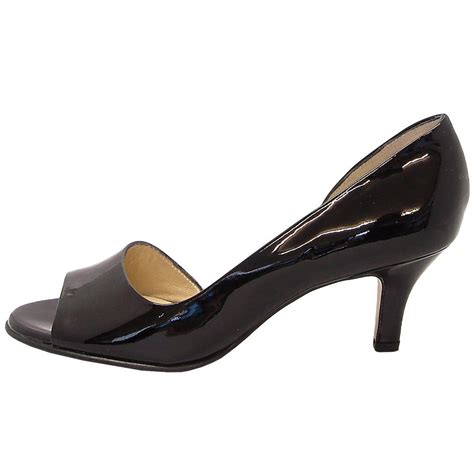 toe shoes kaiser jamala 13 open toe shoes in black patent