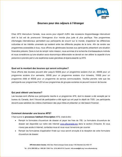 Exemple De Lettre Demande De Bourse étudiant 6 lettre de motivation bourse lettre de preavis
