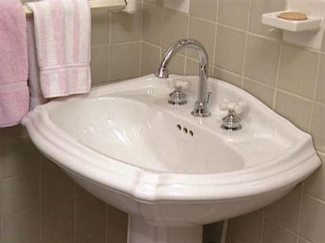 replace  bathroom faucet home pedestal