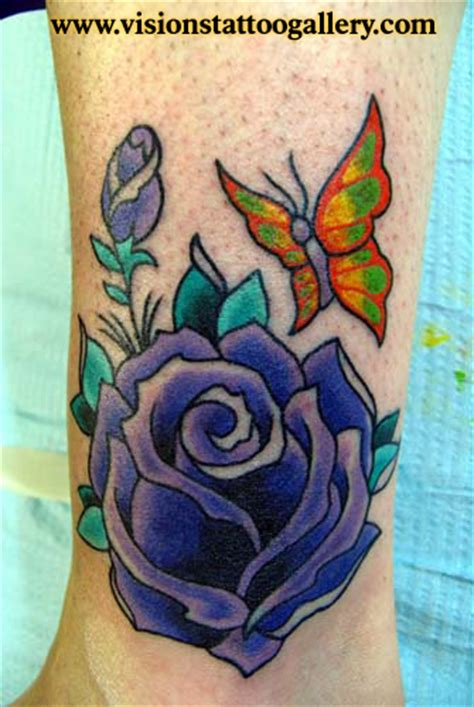 visions tattoo gallery butterfly and rose by canman tattoonow