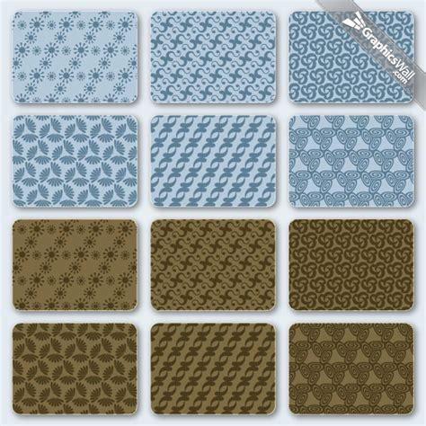 pattern vector ai file free vector patterns set 03 graphicswall
