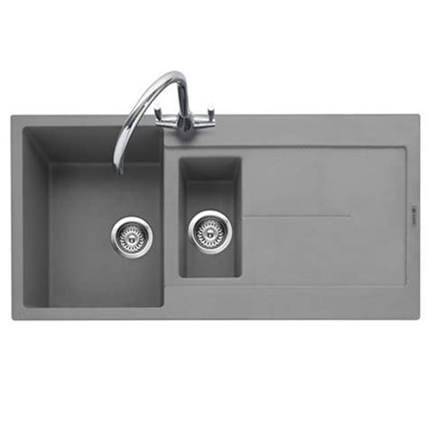grey granite kitchen sink caple canis 150 pebble grey granite sink kitchen sinks