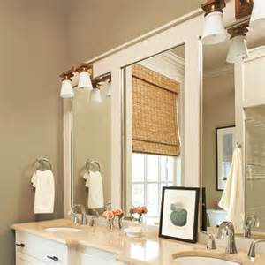 Bathroom Mirror Frame Ideas by 10 Diy Ideas For How To Frame That Basic Bathroom Mirror