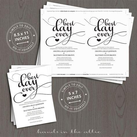 best day wedding invites best day wedding invitation templates printable