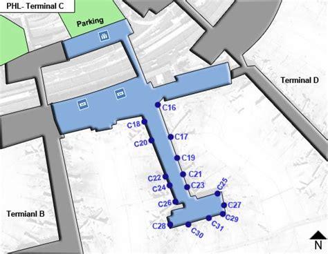 phl airport map phl philadelphia airport terminal maps