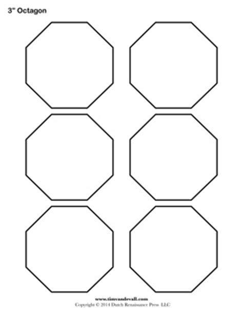 octagon template free printable octagon templates blank octagon shape pdfs