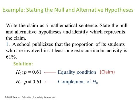 exle of null hypothesis 7 chapter hypothesis testing with one sle ppt