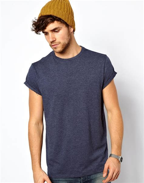design free asos t shirt asos t shirt with crew neck in relaxed skater fit and roll