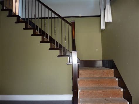 wood banisters for stairs wooden stair railing