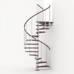 Awesome Escalier Exterieur Metal #6: Escalier-colimacon-rond-ring-line-marches-bois-structure-metal-chrome.jpg