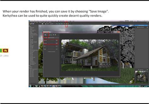 tutorial video kerkythea sketchup texture kerkythea tutorial for outdoor