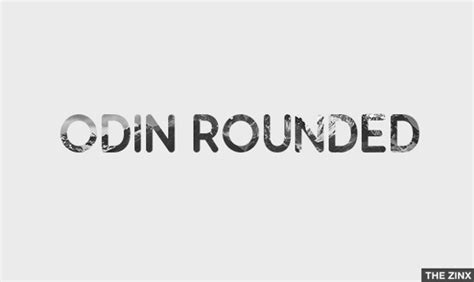 design font round odin rounded font family 183 1001 fonts