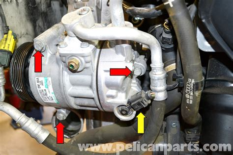 Seal Kompresor Ac volkswagen golf gti mk v a c condenser and compressor