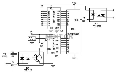 triac diagram gt other circuits gt triac circuits gt digital triac circuit