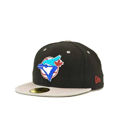 Topi New Era Original Mlb Toronto Blue Jays Fitted Size 714 new era toronto blue jays mlb gstitch 59fifty cap in black for black gray lyst