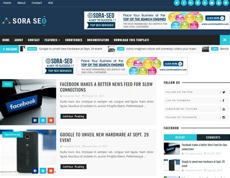 blogger com how to setup sora seo blogger template sora blogging tips