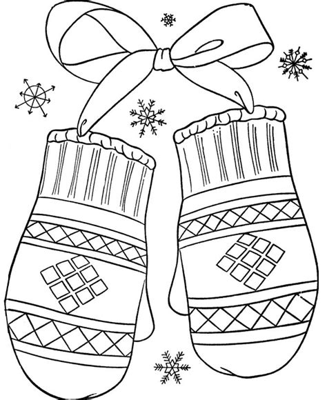 mittens coloring page printables mittens christmas coloring pages pinterest