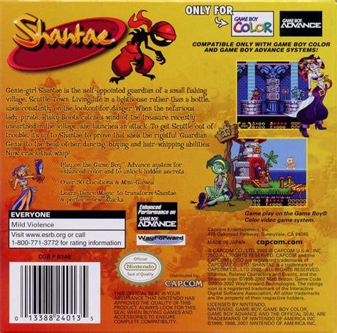 shantae gameboy color shantae 2002 boy color box cover mobygames