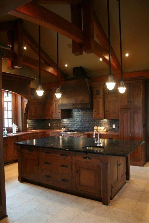 Cherry Wood Cabinets Kitchen by Drewno W Kuchni
