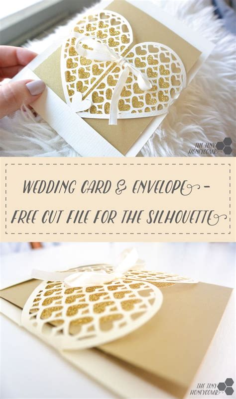 free card templates for silhouette cameo wedding card grid envelope free silhouette cut file