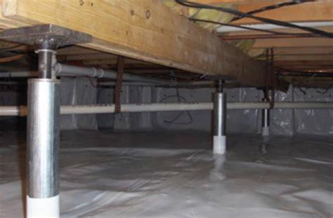 Foundation Repair: Crawl space Jacks