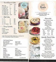 Cake Price List Template by Cake Details Cakes By Krista