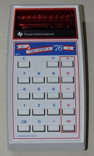 calculator dash vintage quot spirit of 76 quot electronic led calculator by texas