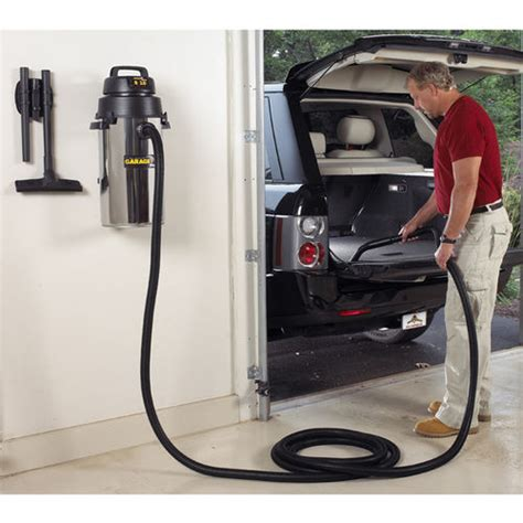 Garage Vacuum by 8 Gallon Wall Mount Garage Vac At Brookstone Buy Now