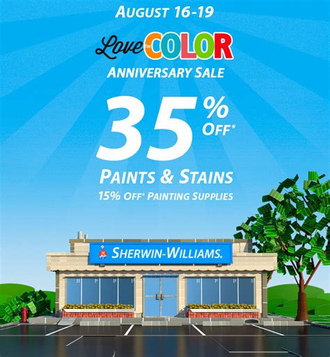 sherwin williams paint store prices sherwin williams anniversary sale a design help
