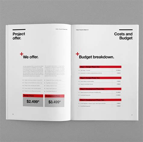 graphic design proposal layout 66 best graphic design documents invoices briefs