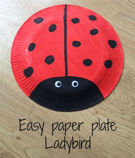 How To Make Paper Plate - how to make a simple paper plate ladybird being mrs c