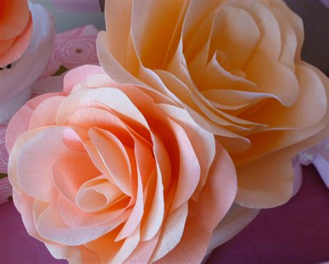 Make Crepe Paper Roses - diy large crepe paper flowers images