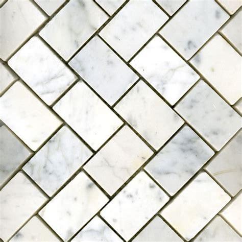 white carrara herringbone honed traditional tile other metro by mglasstile com