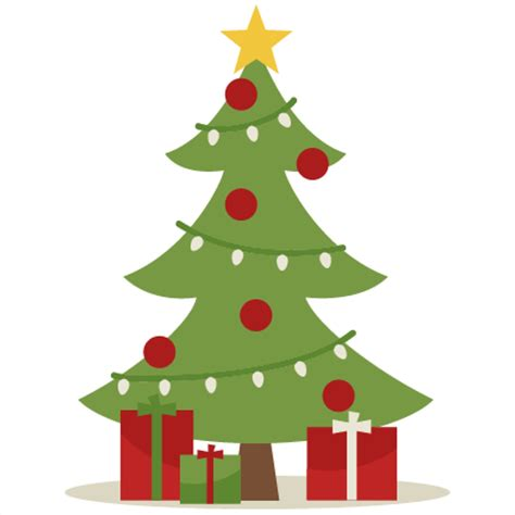 christmas tree clipart cute pencil and in color
