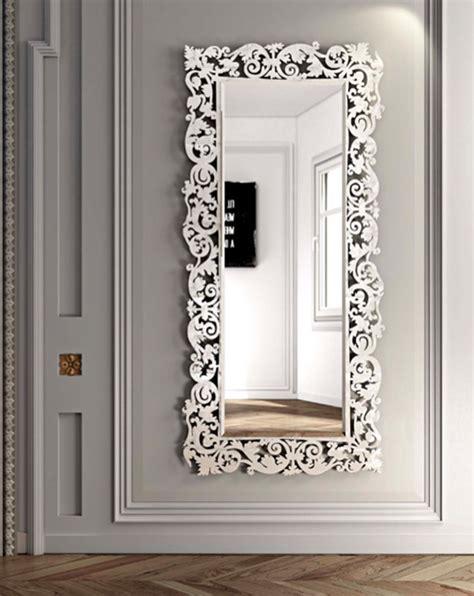 cornici con specchio specchio rettangolare a parete con cornice romantico