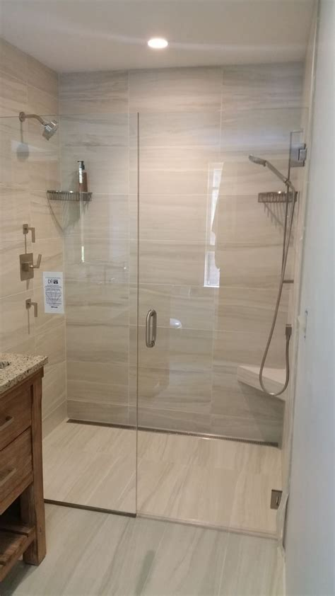 curbless shower curbless shower installation by valley floors our
