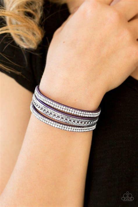 paparazzi unstoppable purple bracelet