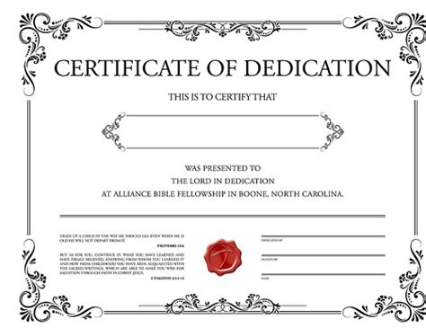 dedication certificate template dedication certificate steve collie flickr