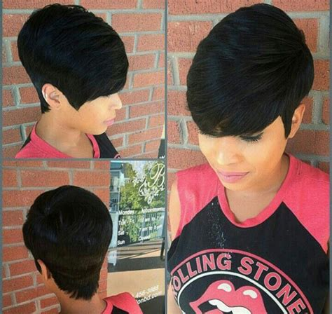 black weave boycut 89 best 27 piece hairstyles images on pinterest short