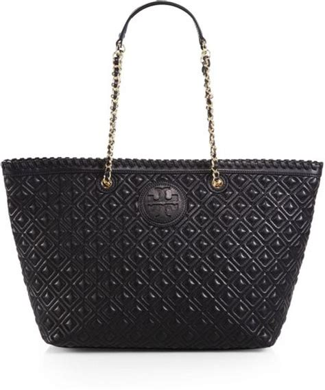Burch Quilt Small Totepo burch marion quilted tote in black lyst
