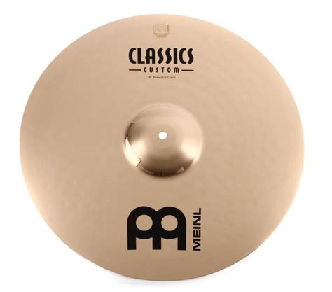 Meinl Cymbal Soundcaster Custom Powerful Crash 21 meinl cymbals classics custom brilliant powerful crash 18 quot sweetwater