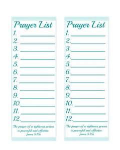 Prayer List Template by A Prayer List Simplewordsoffaith