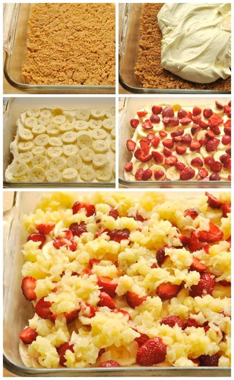 No Bake Banana Split Dessert No Bake Banana Split Dessert Recipe Banana Split